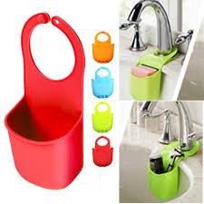 2 Sink Sponge Holder Caddy Soap Basket Cup Storage Drainer Kitchen