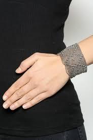 liquid metal cuff bracelet back cropped image