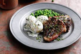 Minted Lamb Chops With Hot Potato Salad