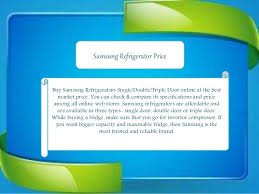Latest Price List Of Samsung Refrigerators In India