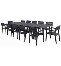 artamon 12 piece extension table setting