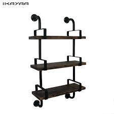 3 tier wall shelves 3 tier rustic industrial iron pipe wall shelves w wood planks ladder 3 tier wall shelf unit