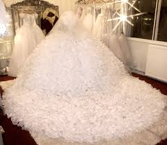sexy aurora borealis see through corset wedding dress 3 meter wide