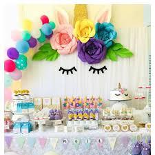 Homemade Paper Flower Decorations Unicorn Party Decoration Diy Paper Flowers Backdrop Decor Kids