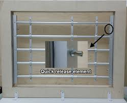 diy window security bars qiuck release aluminum window guard 4 bars kids saver diy