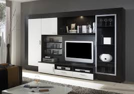 maryland modern entertainment wall unit in black or white with