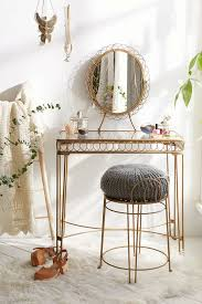 makeup table. urban outfitters wire loop vanity ($159): bring an earthy boho vibe to your beauty routine with this gorgeous wire-and-loop table. makeup table