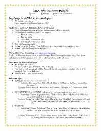 Mla Format Research Paper Example Samples Page In Text Citations