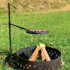 incredible grill grate for fire pit height adjustable rotating outdoor campfire fire pit cooking grill