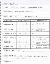 hero forge character sheet 5th edition dungeons dragons claw claw bite