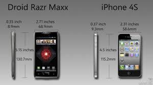 Iphone 4 Iphone 4s Comparison Chart Droid Razr Maxx Vs Iphone 4s How The Specs Compare Geek Com