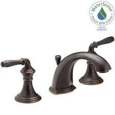 widespread 2 handle low arc bathroom faucet in oil
