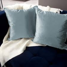 Decorative Pillow Set Jean Pierre Lucas Velvet 2 Piece Decorative Pillow Set In Harbor