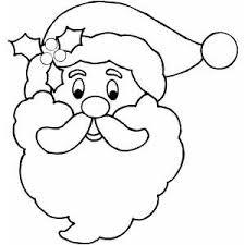 Small Picture Free Printable Santa Face Santa Face Coloring Page Wood