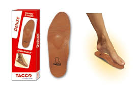 details about tacco 694 deluxe orthotic arch support leather shoe insoles inserts