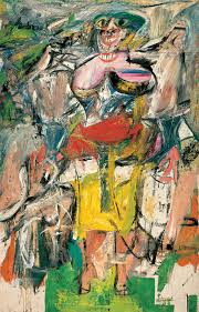 woman and bicycle willem de kooning 1953