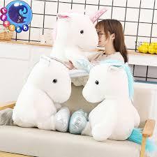 <b>1pc</b> 60 <b>80cm Kawaii</b> Unicorn Plush Toys Giant Stuffed Animal Horse ...