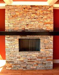 dry stack stone outdoor fireplace slate ideas stacked veneer