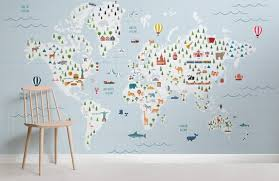 Nautical Chart Wall Mural Graph Paper Blue Map Wall Mural