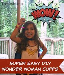 these easy diy wonder woman cuffs are simple to make and kid friendly