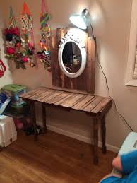 Shelves Made From Pallets Vanity Made Out Of Pallets Diy Crafts By Kk Pinterest