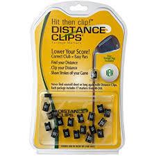golf club distance cheat sheet amazon com distance clips golf yardage markers rangefinder