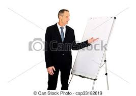 What Is Flip Chart Presentation Male Executive Presenting On Flip Chart