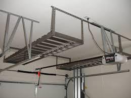 hanging ceiling diy custom overhead garage storage rack shelves after garage remodel ideas