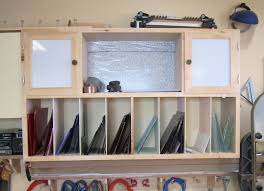 stained glass storage unit
