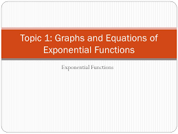 1 topic 1 graphs and equations of exponential functions