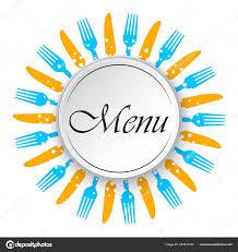 Abstract Menu Design Abstract Menu Background Knifes Forks Vector Illustration