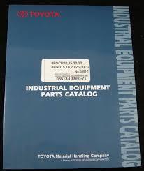 Toyota Forklift Parts Catalog Manual 8FGCU20/25/30/32 8FGU15/18/20 ...