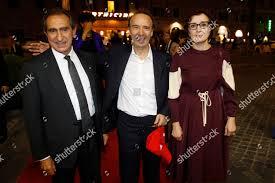 Carlo Fuortes Roberto Benigni wife Nicoletta Braschi Editorial Stock Photo  - Stock Image