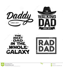 Fathers Day Gift For Dad T Shirt Design Set Vector Vintage