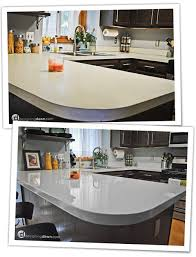 kitchen countertop paintRemodelaholic  Glossy Painted Kitchen Counter Top Tutorial