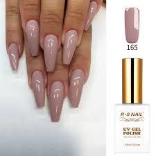 <b>RS Nail 15ml</b> led <b>uv</b> color gel <b>nail</b> polish nude color No.165 <b>nail</b> ...