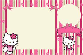 Hello Kitty Invitation Printable Hello Kitty With Flowers Free Printable Invitations Oh My Fiesta