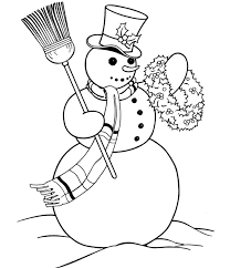 Small Picture Snowman Coloring Pages Christmas Christmas Coloring pages of