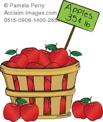 apple basket clipart. clip art illustration of a basket apples apple clipart