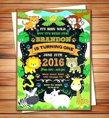 Jungle Theme Birthday Invitations Jungle Theme Party Invitations Guluca