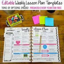 Editable Teacher Binder Print Digital Teacher Planner 2019 2020 Free Updates