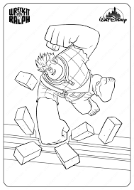 This film full of winks and references is primarily dedicated to children of course, but also their parents, who have most of the time held a. Printable Disney Wreck It Ralph Coloring Pages