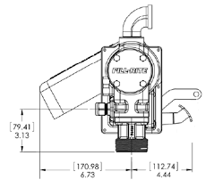 model frgl v dc high flow pump fill rite mdi dimensions for model fr4204g pumps from fill rite