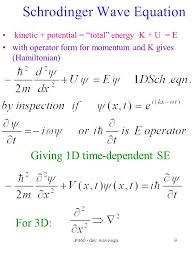 9 p460 dev wave eqn 9 schrodinger wave equation