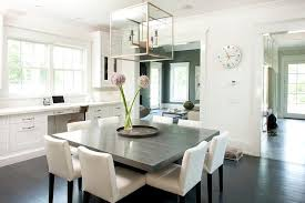 gray dining table. Gray Square Dining Table With White Chairs Y