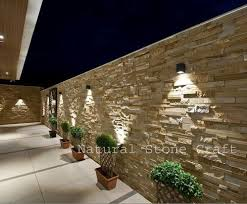 wooden color strip exterior wall cladding
