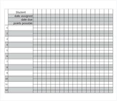 Excel Grading Template Gradebook For Teachers Elementary