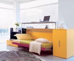 the cabrio in folding bed comes with integrated storage and home office desk 210 x 60 and is available a single bed cabrio 80 or a small double bed bed in office