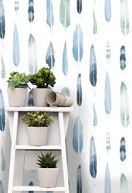 feathers wallpaper by mini moderns matt sewell happy interior