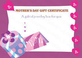 Present Box Mothers Day Gift Certificate Template Beautiful